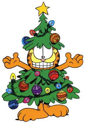 Christmas Tree & Garfield